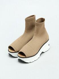 [Rakuten Fashion]【SALE/45%OFF】オープントゥスニーカーソールブーツ SNIDEL スナイデル シューズ シューズその他 ベージュ ブラック カーキ【RBA_E】【送料無料】