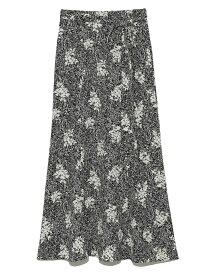 プリントナロースカート SNIDEL スナイデル スカート ロングスカート ブラック ホワイト ピンク【送料無料】[Rakuten Fashion]