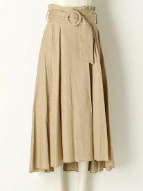 [Rakuten Fashion]ベルトデザインミディSK SNIDEL スナイデル スカート ロングスカート ベージュ グリーン【送料無料】
