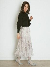 チュールタイダイスカート SNIDEL スナイデル スカート ロングスカート グレー ホワイト【送料無料】[Rakuten Fashion]