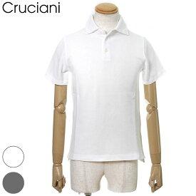 国内正規品 Cruciani クルチアーニ ポロシャツ 鹿の子 半袖 綿/コットン100% メンズ ホワイト/ブラック/ネイビー 44/46/48 JU1371