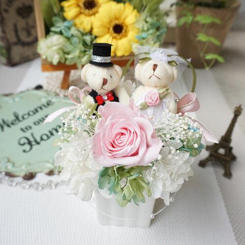 結婚祝いプリザーブドフラワー電報結婚式ぬいぐるみ送料無料花プレゼントギフト結婚記念日結婚祝いプリザーブドフラワー電報結婚式結婚祝いプリザーブドフラワー花プリザーブドフラワーテディのフラワー結婚式送料無料