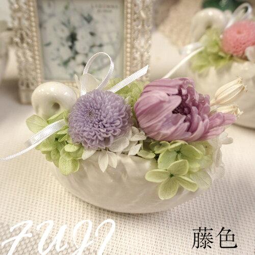 お供え初盆お供え物喪中見舞いペット仏花プリザーブドフラワー白鳥の器のかわいいお供え花「大切な思い出」送料無料ペットお悔やみお悔み花贈り物