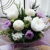 プリザーブドフラワー仏花お供え花【送料無料】あなたを偲んでブリザーブドフラワー