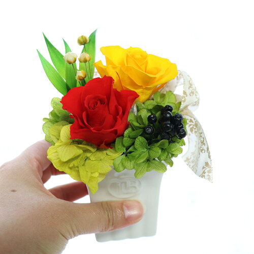 アウトレット054お祝い花プリザーブドフラワー初めてミニョン