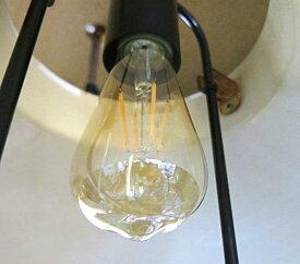 ソフトフィラメントLED電球電球がインテリアになるノスタルジックなアンバーカラーなみだ型のシャンデリアタイプ消費電力たった4.5Wペンダントランプやシャンデリア魅せるエジソンタイプE26口径