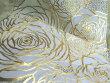 メール便OK!2枚セット薔薇の花のフリーマットゴールドローズが彩るランチョンマットやリビングクロステーブルランナーに豪華さを!浮き立つ金のバラ