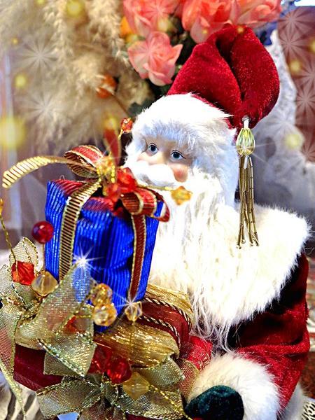 リアルなサンタクロースドールお座りするサンタ人形大型サイズ自由に足が曲がる【シッティング サンタ】憧れのヨーロピアンサンタクロース