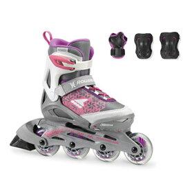 Rollerblade〔ローラーブレード ジュニアインラインスケート〕COMBO G〔WHITE/PURPLE〕【プロテクター付】【サイズ調整可能】〔SA〕