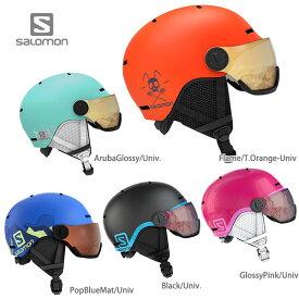 SALOMON サロモン ジュニア スキーヘルメット 2020 GROM VISOR 子供用 19-20 NEWモデル【A】