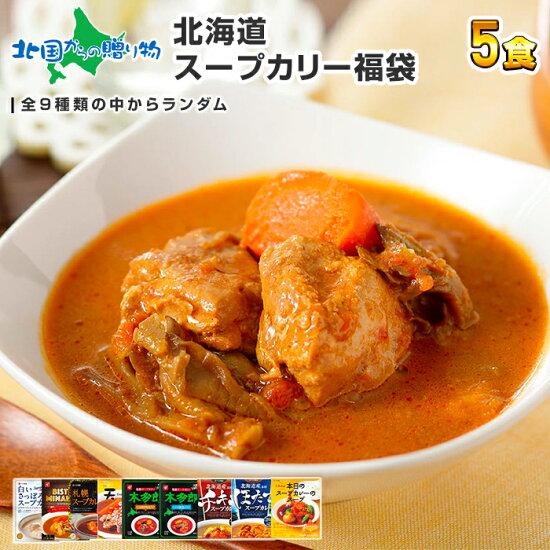 北海道スープカレー福袋お楽しみ食べ比べ5食セットカレーセット