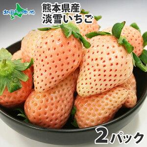 熊本県産 淡雪イチゴ M-3L 200g×2 淡雪 いちご 白い 白イチゴ 白いちご あまい 送料無料 ◆出荷予定:1月下旬