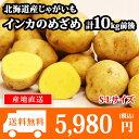 【予約受付中】北海道産 じゃがいも インカのめざめ S-Lサイズ 10kg前後 送料無料 ◆出荷予定:2017年10月中旬-11月上旬 /ジャガイモ/じゃが芋