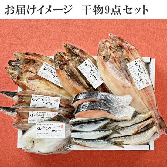 北海道産直ふっくらやわらか干物9点セット