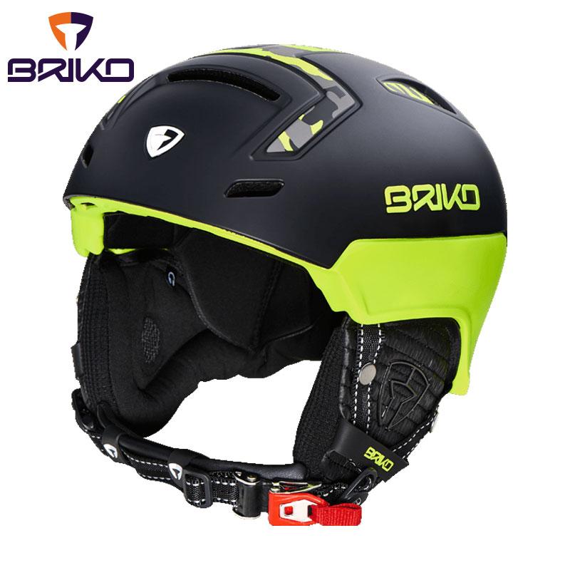 ★普通便で送料無料★BRIKO STROMBOLI スキーヘルメット フリーライド 2017-2018w メンズ レディース 20000h0 A68(マットフローイエローカモ)