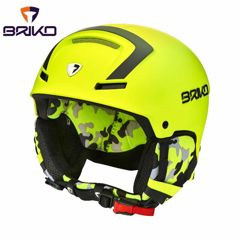 ★普通便で送料無料★BRIKO FAITO フリーライド スキーヘルメット 2017-2018w メンズ レディース 20001m0 969(マットイエローフローブラック)