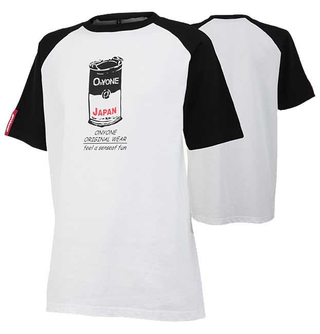 ONYONE(オンヨネ) ラグランTシャツ メンズ 100009(ホワイトxブラック) OKJ99322