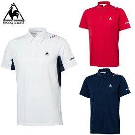 【メール便OK】lecoq sportif(ルコック) QT714165 ユニセックス テニスウェア 半袖 ポロシャツ ドライ 速乾