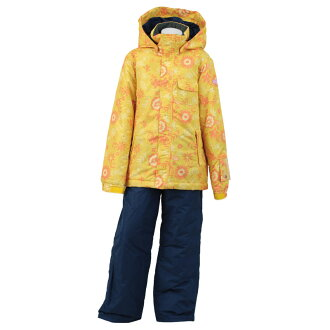 Child skiwear top and bottom set girls ski suit 2016-2017W RES69003-16 117P697(ORANGEXNAVY) 130 140 150 160 of the ONYONE (On Yo Ne) youth child woman