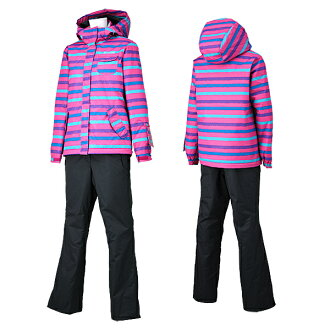 I cut the price of salopette type RES88001 954Px008(PINKxCHARCOAL) with lady's skiwear top and bottom set batting!