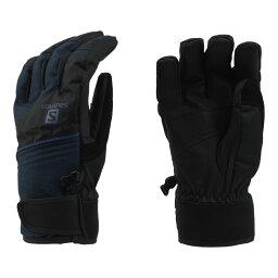 [SALOMON]JP BUFFALO GLOVE M滑雪手套GLO1603 L39419700(BLACK/BIG BLUE-X)