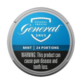 General Mint 24 g smokeless tobacco snus