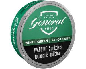 ジェネラル ウィンターグリーン 24g 煙の出ないたばこ スヌース