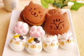 (引菓子・ギフト)猫の和菓子大家族セット(どらやき・饅頭)