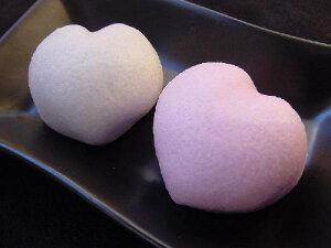 【ブライダル プチギフト】 ハート饅頭2ヶ詰(紅白まんじゅう)