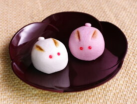 【プチギフト/どうぶつまんじゅう】[ウサギの紅白饅頭]2ヶ入(和菓子)
