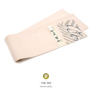 【訳あり】半幅帯 桃色 ベビーピンク 薔薇 花 縞 正絹 手織り 夏向け カジュアル向け 女性帯 細帯 半巾帯 アウトレット 仕立て上がり 【あす楽対応】