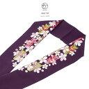 半襟 振袖 刺繍 成人式 半衿 紫系 パープル カラフル 梅 うめ 花 矢羽根 新合繊 シルエリー 振袖向け はん…