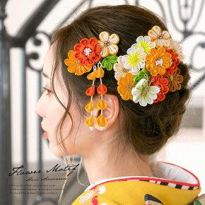 成人式や卒業式に!花の髪飾り