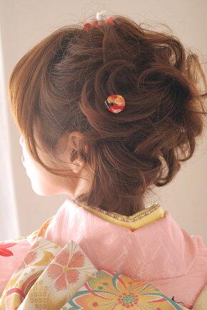 着物スタイルのヘアアレンジに,髪飾りセット