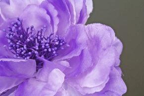 髪飾りコサージュ浴衣花フラワー紫牡丹クリアビーズブラ帯飾り夏ゆかた髪留め髪かざりヘアアクセサリー