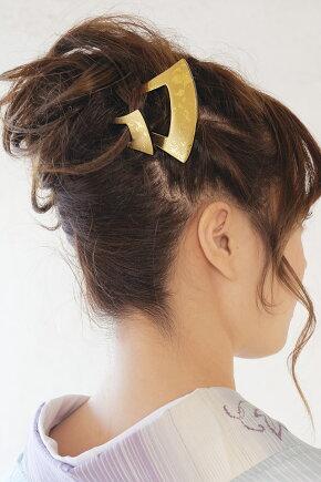 大・小の簪の2個セット,バチ型簪(かんざし)