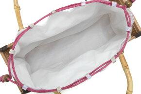 麻素材が涼しげな巾着カゴバッグ