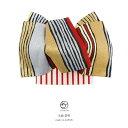 袋帯 金色 ゴールド 銀色 シルバー 赤 黒 よろけ縞 ボーダー 全通柄 振袖向け 成人式 フォーマル 日本製 仕立上がり 【送料無料】