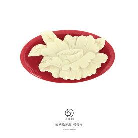 帯留め ブランド fussa 赤 レッド アイボリー 椿 ツバキ 花 象牙調 帯どめ おびどめ 振袖 盛装 成人式 結婚式【あす楽対応】