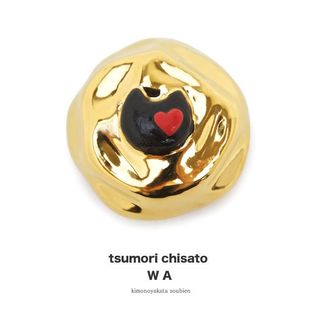 帯留め 帯どめ おびどめ 小紋 紬 ブランド tsumori chisato ツモリチサト 金 陶器 猫 和装小物 【あす楽対応】