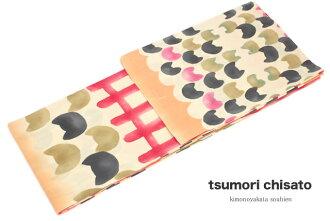 Brand tsumori chisato cream 赤猫格子注染女性浴衣 for the lady's yukata fireworks display summer festival woman