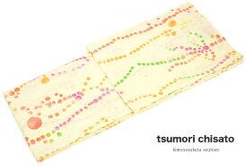 レディース浴衣 花火大会 夏祭り 女性用 ブランド tsumori chisato クリーム 水玉 ドット リボン 縞 注染 女性浴衣【フリーサイズ】【あす楽対応】