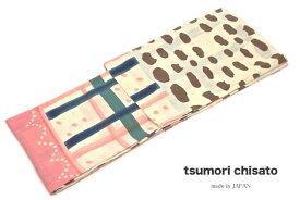 浴衣 女性 レディース浴衣 tsumori chisato ツモリチサト ブランド 注染 クリーム 格子 水玉 綿 【送料無料】【あす楽対応】
