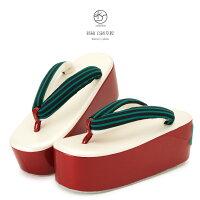 3dac7d539e54a1 PR 草履 白 パールホワイト 赤 レッド 緑色 縞 ストライ.