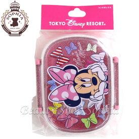 ミニーマウス ランチボックス リボン柄 ピンク ディズニー お土産【東京ディズニーリゾート限定】