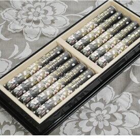 宇野千代のお線香 特撰 淡墨の桜 短寸10把 進物用黒塗り桐箱入