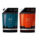 【 KnS 】柿のさち パウチセット(KnSスカルプシャンプー詰替+ KnSボディソープ詰替)KnS メンズ|加齢臭 ボディソープ かきのさち シャ…