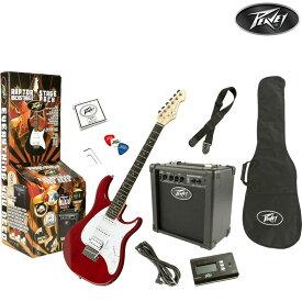 【売り切り特価!全国送料無料!】Peavey Raptor Stage Pack ピーヴィー 初心者用・入門用エレキギターセット RED 赤 プレゼントにも!