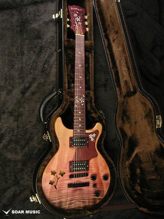 Seventy Seven エレキギター ALBATROSS-SAKURA-SP18 CPL-GRD 桜(サクラ)ハードケース付属 国産 日本製 限定モデル セミアコ
