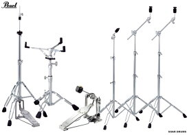 Pearl/ パール ドラムセット用スタンド・ハードウェアセット (キックペダル・シンバルスタンド3本・スネアスタンド・ハイハットスタンド)